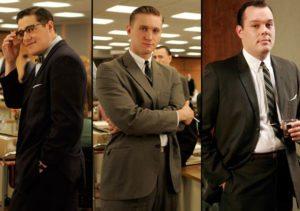 Mad Men crew in suits