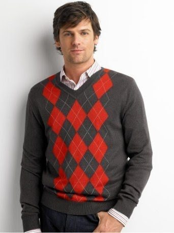 Argyle mens sweater