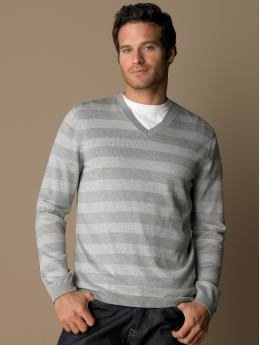 V neck mens sweater