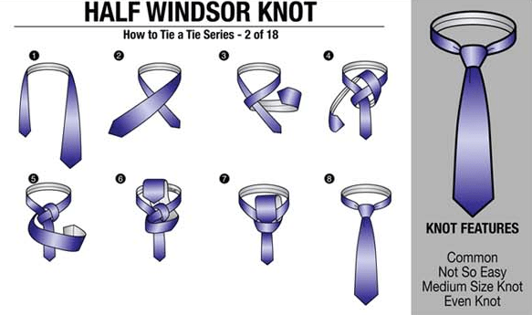 How to tie a half windsor knot tutorial tying neck tie half your tie should rest between the top and middle of your belt line if its too short start over making the narrow end higher if its too long ccuart Images