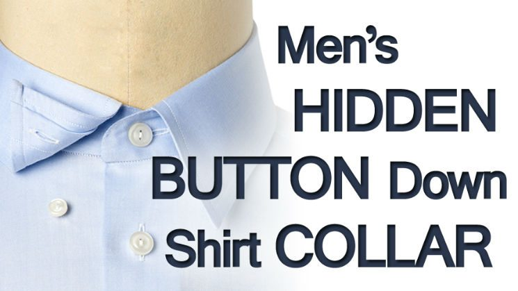 How To Wear The Men's Hidden Button Down Shirt Collar