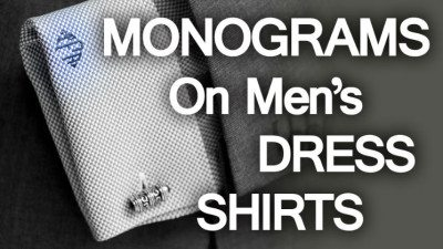 Monograms on men s dress shirts for Initials on dress shirts