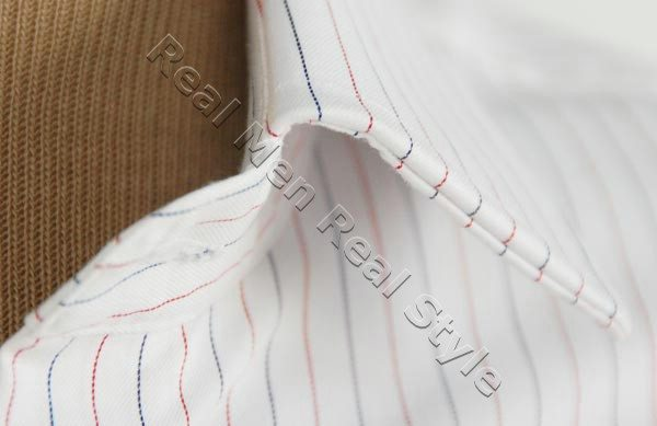 mens shirt collar close up