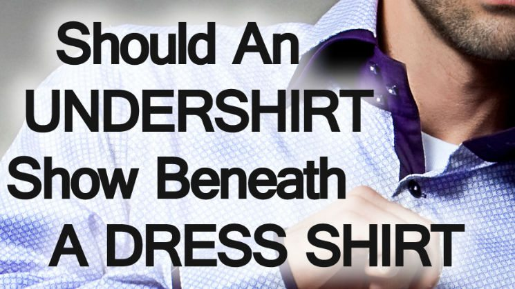 Blue dress shirt undershirt