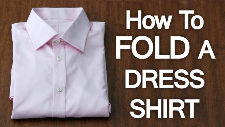 how to pack dress shirts roll