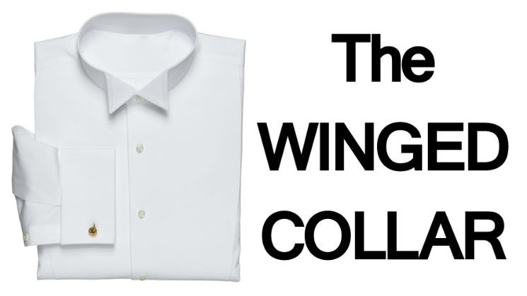 How do I wear a wing-collared shirt and bow tie?