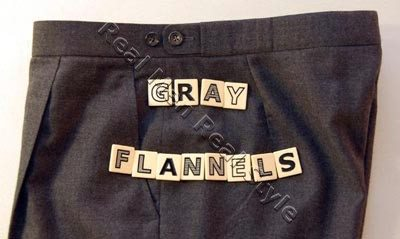 Gray flannels for men