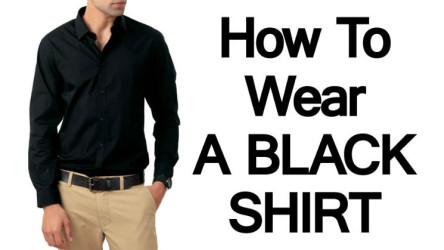 How to Wear a Dark Shirt