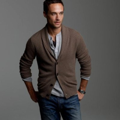 How to Wear Mens Cardigan Sweater