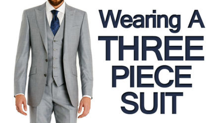 Wearing A Three Piece Suit | Vest With Single Breasted Suits | Men
