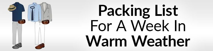 week long vacation packing list