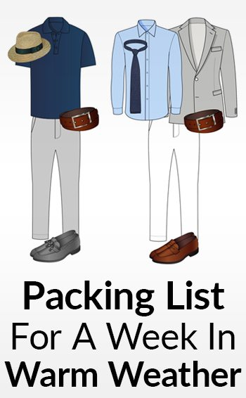 97b559605513 A Man s Packing List For A Week In Warm Weather