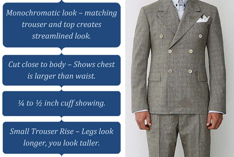 Short man suit tips