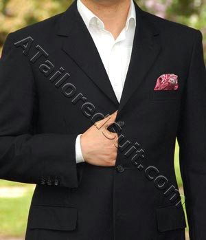 a man's navy blazer