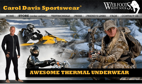 Carol Davis Sportswear Awesome Thermal Underwear