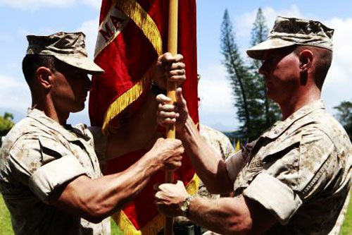 Change of Command - Folded Sleeves