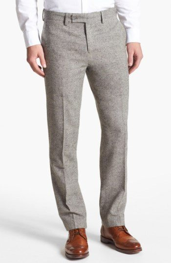 Grey Flannel Pants Brown Shoes