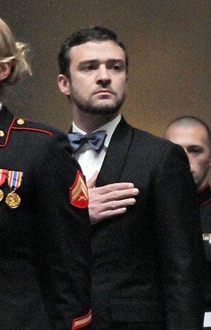 Justin Timberlake Hand Heart Marine Corps