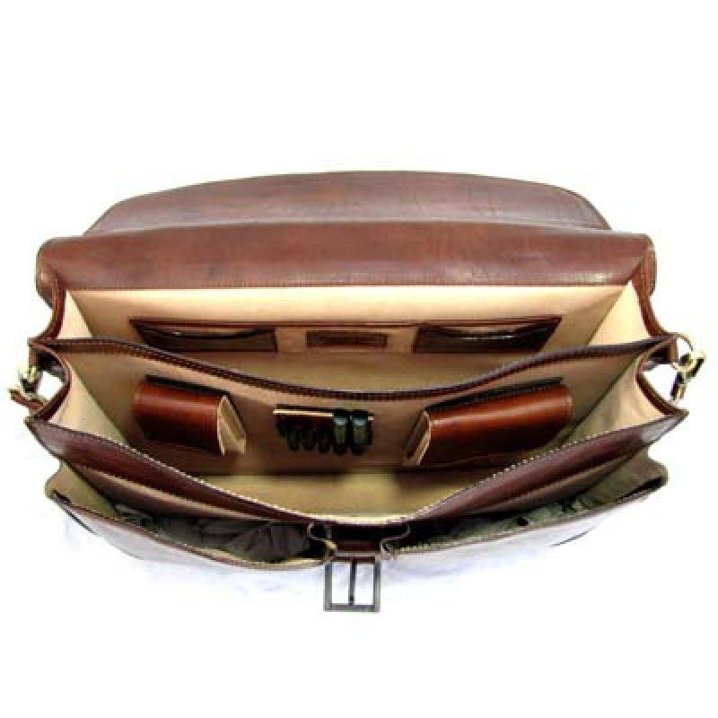 mens tan briefcase