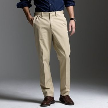 Black Shoes Light Khakis