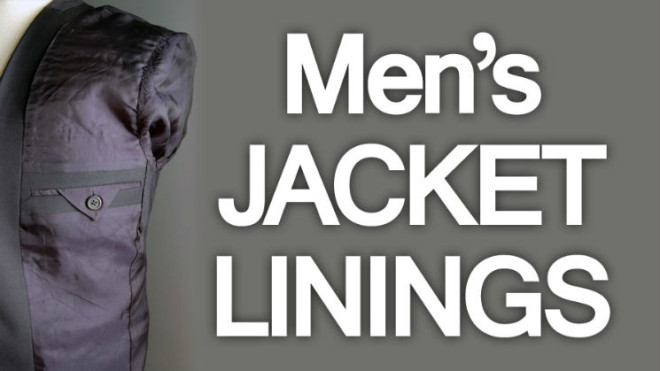 Men's Suit Jacket Linings | Understanding The Lining And ...