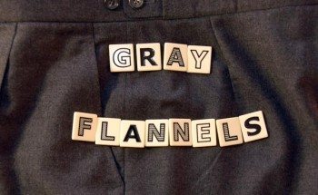 mens gray flannel trousers