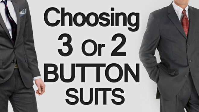 Choosing between 3 Button or 2 Button Mens Suits?