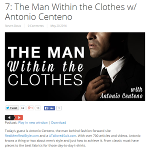 7 The Man Within the Clothes w Antonio Centeno Steven Davis Dating Advice and Dating Coach