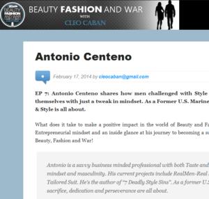 Antonio Centeno Beauty Fashion War Podcast