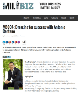 MB004  Dressing for success with Antonio Centeno   MILBIZMILBIZ