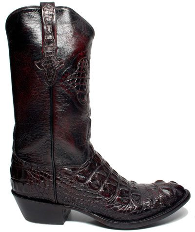 mens leather gator boots