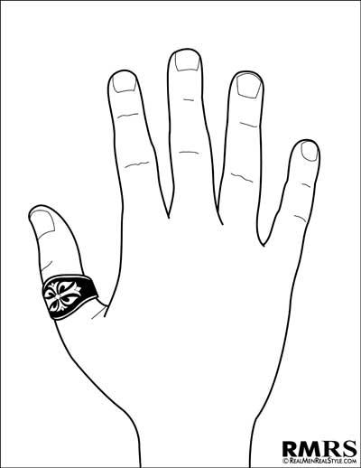 mens thumb finger