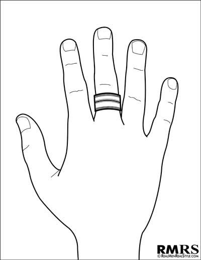 mens middle ring finger