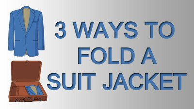 3 ways to fold a suit jacket