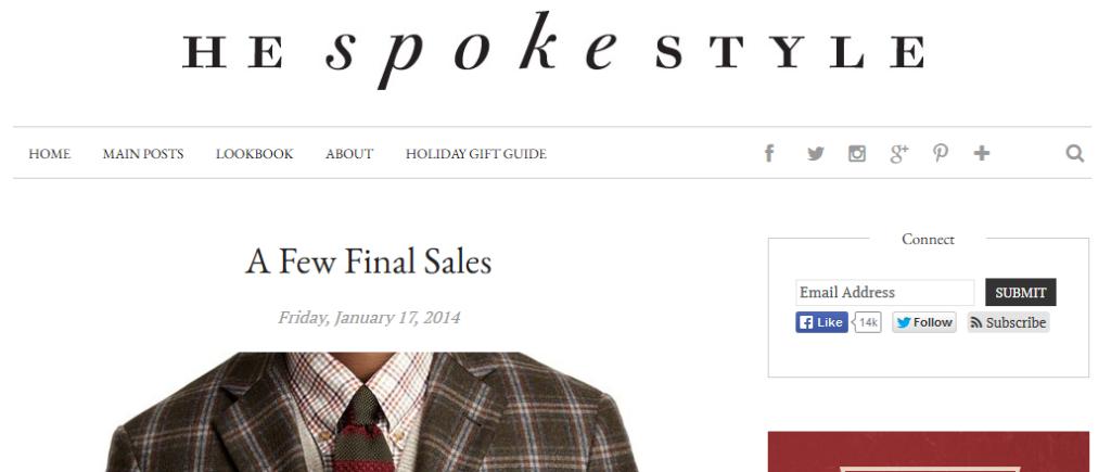 He spoke style men style blog