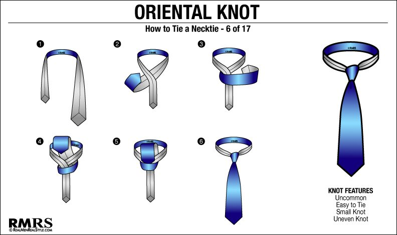 How to tie a tie knot 18 different ways of tying necktie knots in 2018 the simple knot oriental knot tying instructions different tie knots ccuart Images