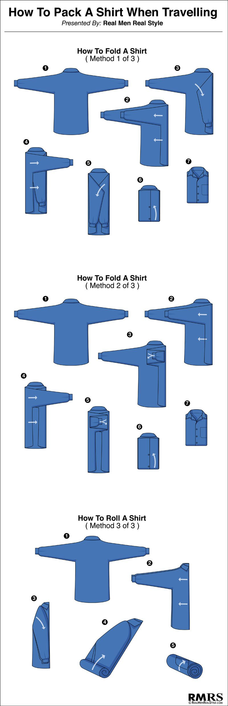 how to fold a men s dress shirt travel tips for folding