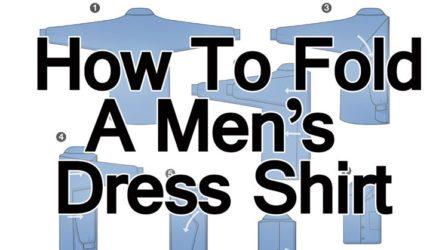 How-To-Fold-A-Men's-Dress-Shirt