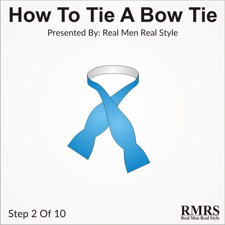 How to tie a bow tie self tying a bowtie bow tie knots in 10 steps tie bow tie step by step 2 ccuart Gallery