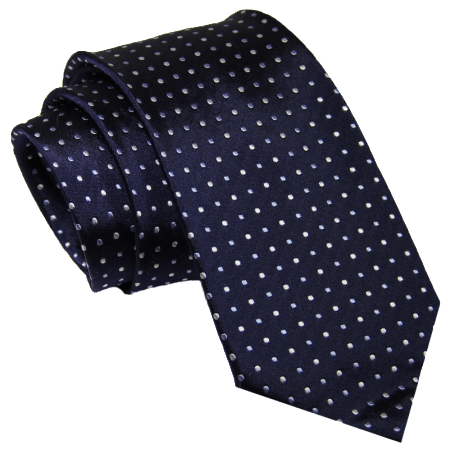 The Dark Knot Waltham Dots - Navy Blue