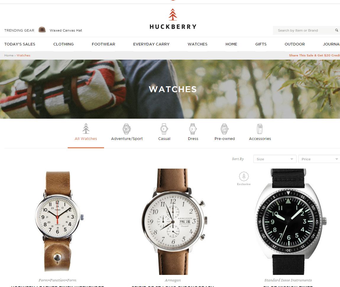 Shop Watches Online Huckberry