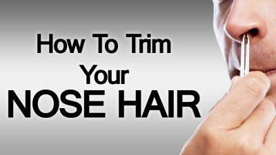 how to trim nose hair