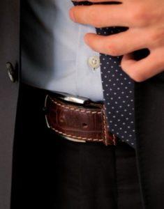 Man Wearing a Belt