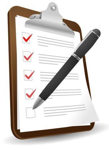 detailed checklist