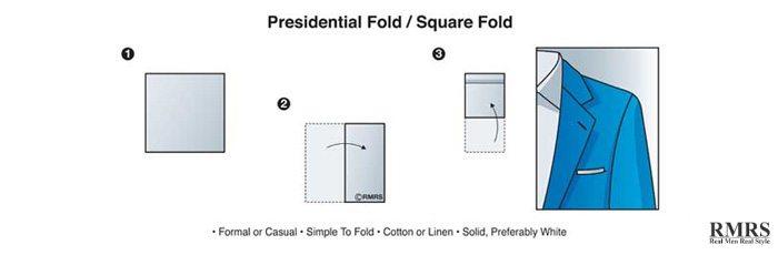 presidential fold - pocket square