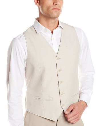 Cubavera Men's Cotton Linen Herringbone-Textured Vest