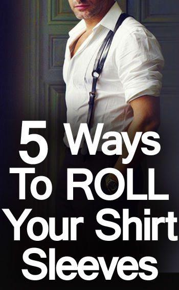 Rolled Sleeve T Shirt Men