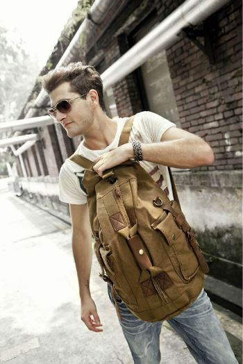 Kattee Vintage Bucket Type Backpack Bag With Adjustable Buckle