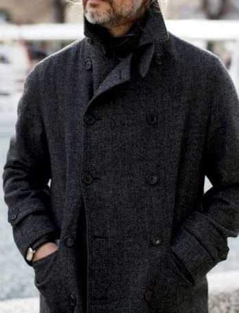 Older Man in Wool Coat
