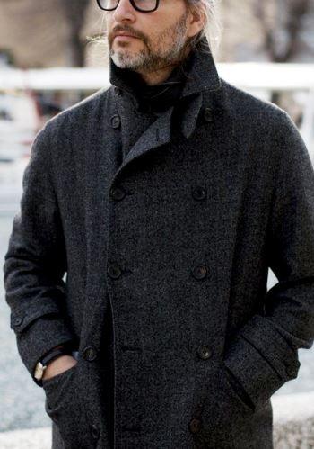 Older Man in Wool Coat